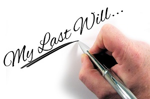 Hand writing last will