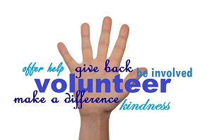Raised hands volunteering